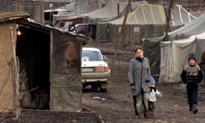 A Chechen refugee camp in Ingushetia, in 2004, amid warfare and political turmoil over Russia's attempts to keep control of Chechnya.