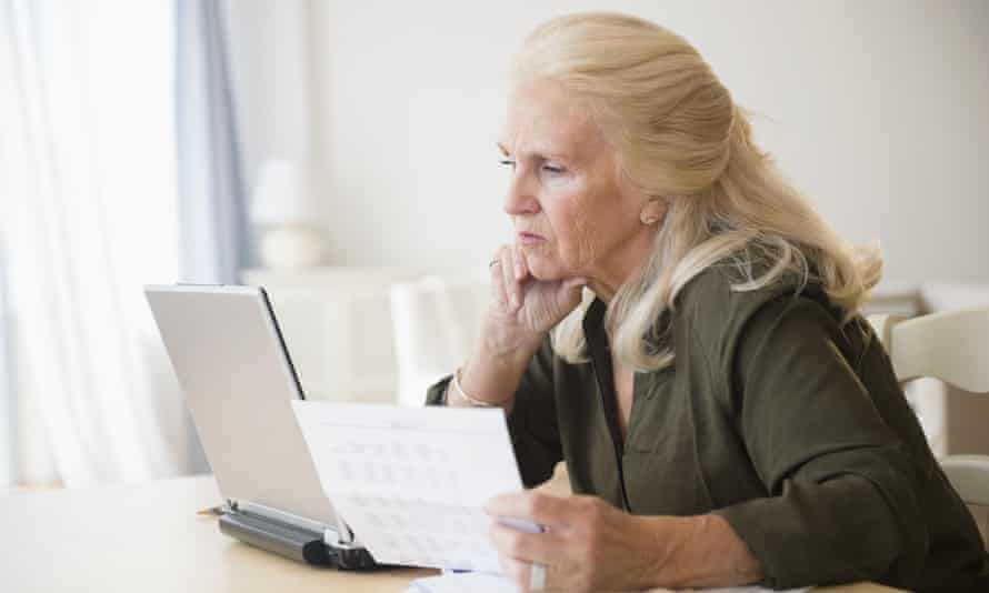 Older woman with laptop