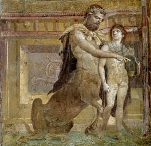 The Education of Achilles by Chiron fresco from Herculaneum