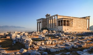 Erechtheion, an ancient greek temple in the north side of the Acropolis of Athens in Greece.