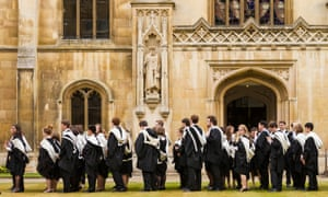 Cambridge University students on graduation day. Photograph: Paul Thompson/Corbis