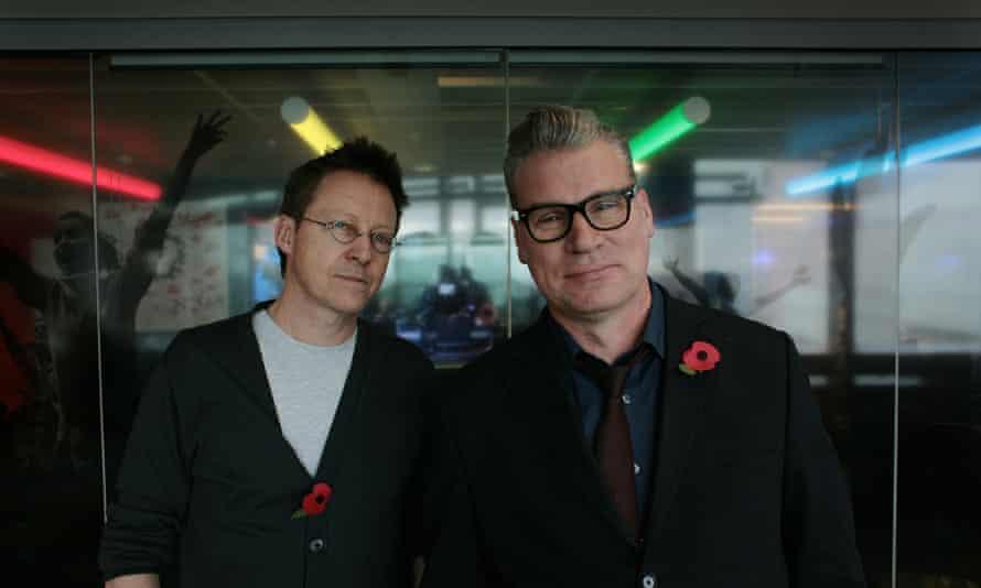 Simon Mayo (left) and Mark Kermode at BBC New Broadcasting House