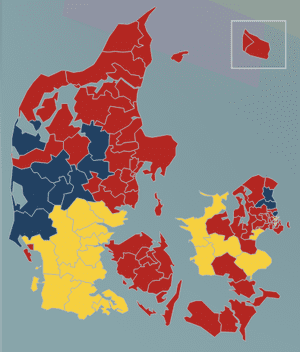 99% of the votes of Denmark have now been counted.
