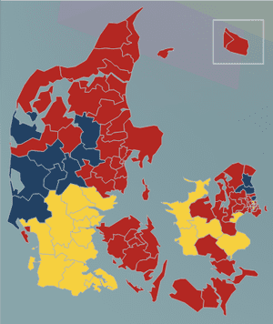 DR.DK map with 100% votes counted.