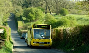 A rural bus service in Hampshire. Eighteen percent of over-65s in the countryside said they had no access to public transport.