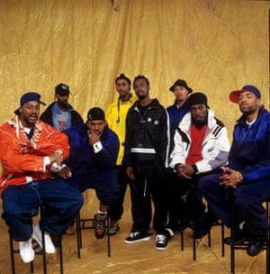 Wu-Tang Clan: from left, Ghostface Killah, Masta Killa, Raekwon, RZA, Ol' Dirty Bastard, GZA, U-God and Method Man in New York, 1997.