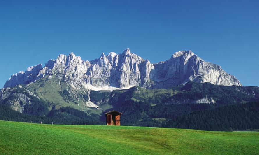 Wilder Kaiser's towering sheer cliffs resemble the Dolomites