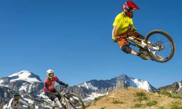 Mountain biking in Tignes