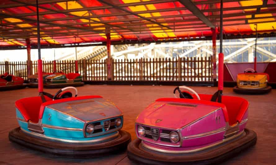 Beautiful and evocative; restored dodgem cars at Dreamland amusement park in Margate.