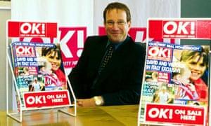 Richard Desmond promoting his OK! Magazine in 2000