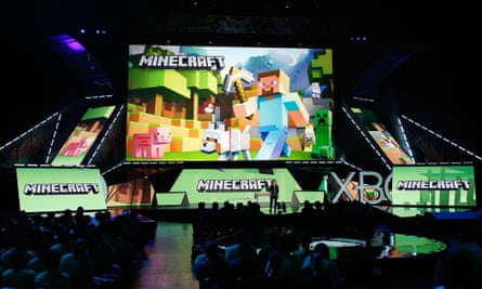 A Minecraft presentation at the Microsoft Xbox E3 press conference on 15 June 2015 in Los Angeles