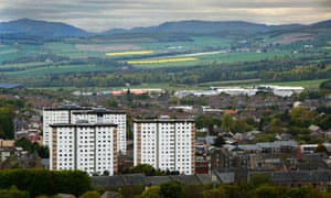 A view over Dundee. The city has some of the most deprived areas in the UK.
