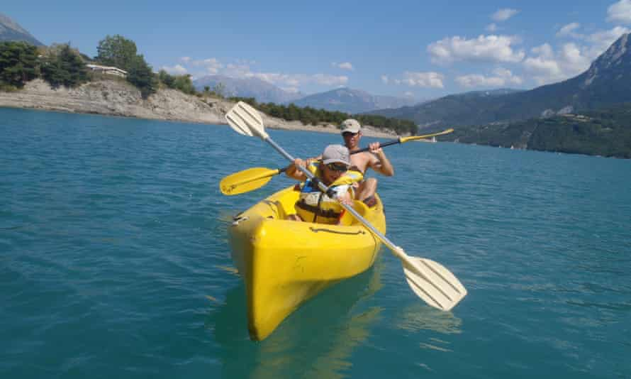 Kayaking is one of the holiday's activity options – others nclude tubing and mountain hiking