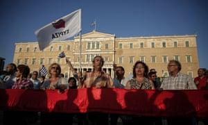 Anti-austerity rally in Athens, Greece