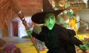 Margaret Hamilton as the Wicked Witch of the West in The Wizard of Oz.