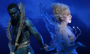 David Harewood (Oberon) and Tina Benko (Titania) in Taymor's version of A Midsummer Night's Dream.