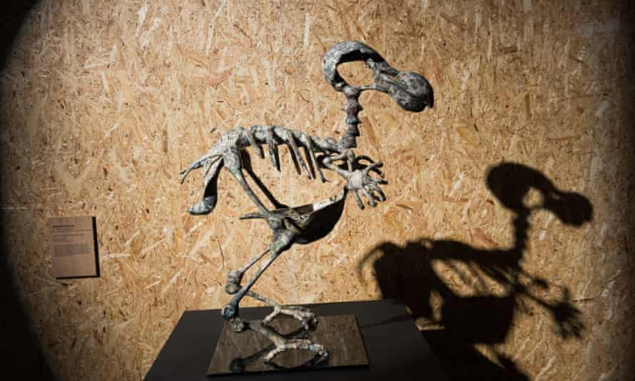Abigail Fallis's Dodo - Death Of The Author at an exhibition to mark the 50th anniversary of The IUCN Red List of Threatened Species in London in 2014