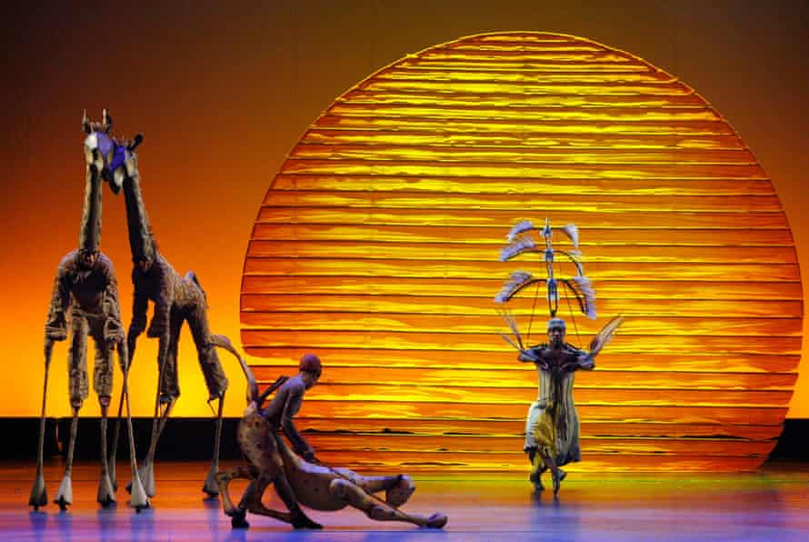 The cast of The Lion King perform at the Tony awards in New York in 2008.
