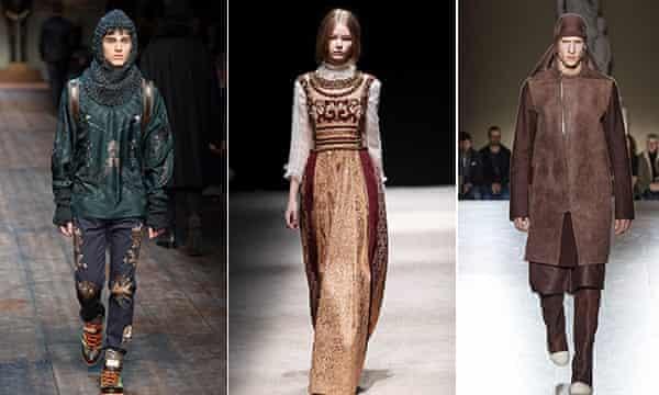 Dolce & Gabbana, Alberta Ferretti, Rick Owens.
