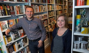 Carrie and Tim Morris, owners of Booka bookshop