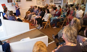 Booklovers attend an evening with Picador authors Rebecca Wait, David Whitehouse and Sarah Butler at Booka.