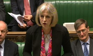 Home Secretary Theresa May gives a statement to MPs in the House of Commons, following the publication of the report by Mark Ellison QC into the Stephen Lawrence murder investigation.