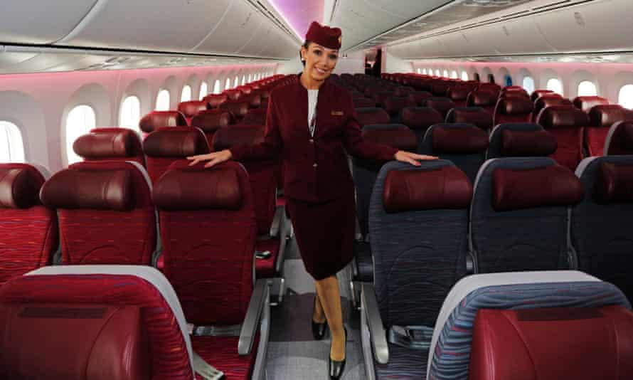 A flight attendant with Qatar Airways, which demands its crew live under curfew in monitored accommodation, and restricts their movements, relationships and family life.