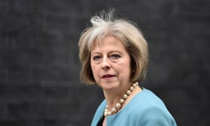 Britain's home secretary, Theresa May