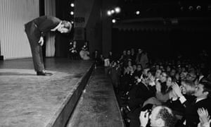 Aznavour makes his premiere at the Olympia music hall in Paris in 1971.