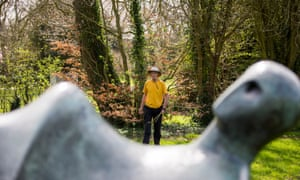 Richard Long creating a work last year for the Hertfordshire estate of Henry Moore.