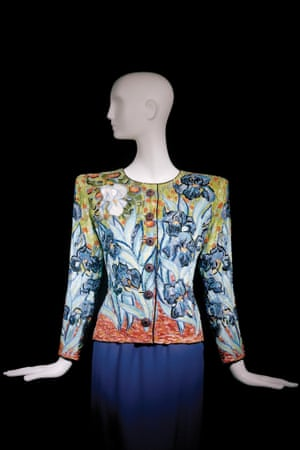 Short evening ensemble. Tribute to Vincent van Gogh. Haute couture collection, Autumn-Winter 1988