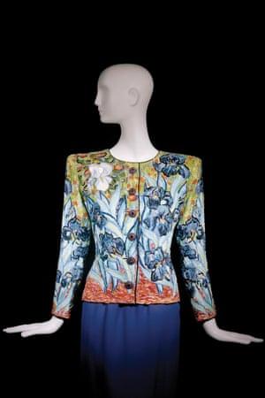 Short evening ensemble. Tribute to Vincent van Gogh. Haute couture collection, Autumn-Winter 1988