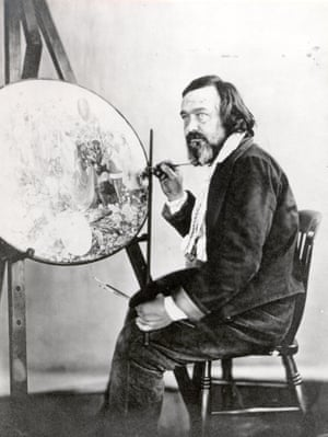 Dadd in Bethlem, painting Contradiction, c1875, photographed by Henry Hering.