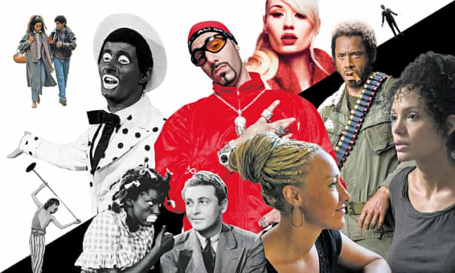 A long history of blackface for entertainment. Photomontage: Andrew Stocks