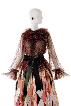 Long evening ensemble. Tribute to Pablo Picasso. Haute couture collection, Autumn-Winter 1979
