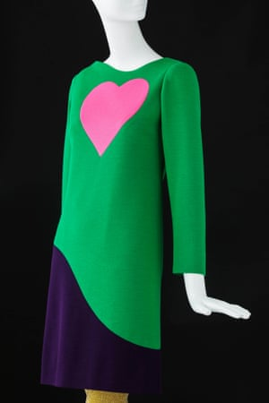Cocktail dress inspired by Pop Art. Haute couture collection, Autumn-Winter 1966