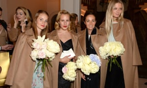 Petra Palumbo, Charlotte Dellal, Daniella Agnelli and Rebecca Corbin-Murray Max Mara VIP dinner in London - weating Max Mara.
