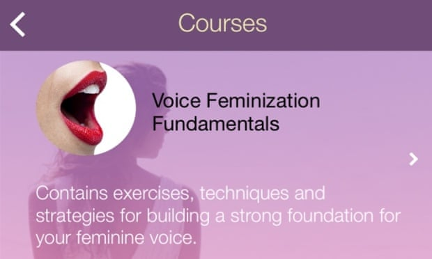 Eva: transgender voice-training app helps women and men talk