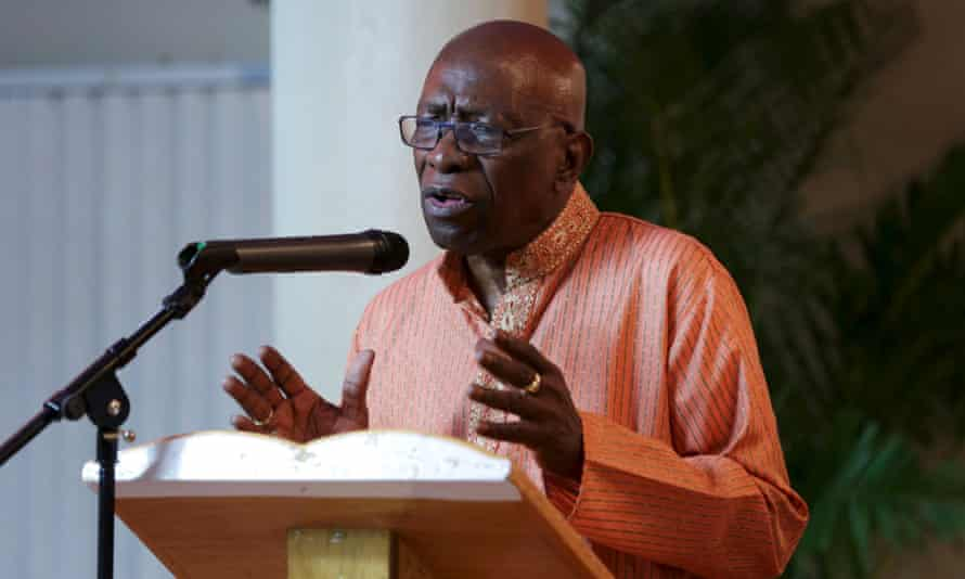 Jack Warner gives a speech in Chaguanas, Trinidad and Tobago, after the Fifa scandal erupted.