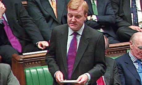 Charles Kennedy in parliament 2001