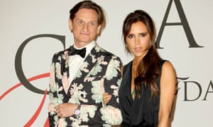 Victoria Beckham and Hamish Bowles at the CFDA Fashion Awards