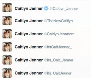 Caitlyn Jenner Twitter accounts