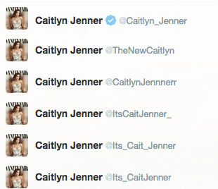 Caitlyn Jenner Twitter accounts