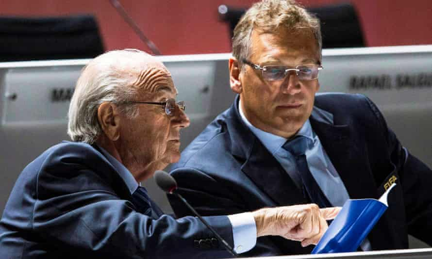 Fifa's secretary general Jérôme Valcke, right, is Sepp Blatter's long-time closest ally and fixer.