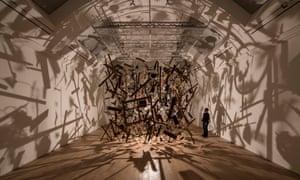 Cornelia Parker's Cold Dark Matter, The Whitworth Art Gallery, Manchester.
