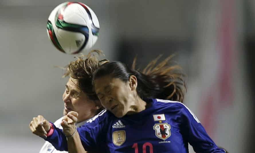 Homare Sawa, right, was player of the tournament in Japan's 2011 World Cup triumph.