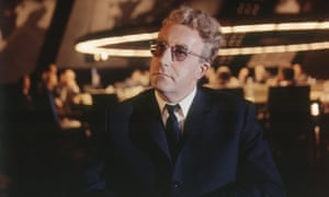 Peter Sellers on the set of Dr Strangelove or: How I Learned to Stop Worrying and Love the Bomb.