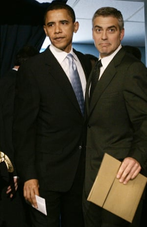 George Clooney and Barack Obama in 2006.