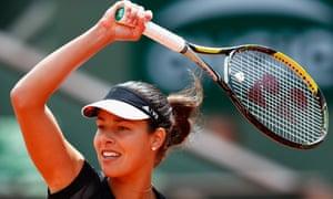 Ana Ivanovic plays a forehand against Elina Svitolina.