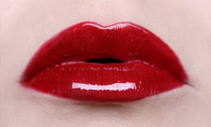 red lips woman